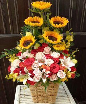 giỏ hoa tươi 01