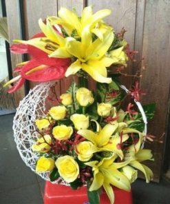 giỏ hoa tươi 02