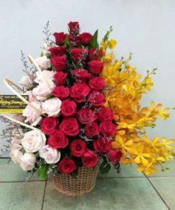 giỏ hoa tươi 06
