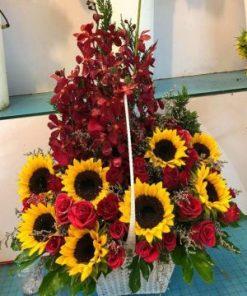 giỏ hoa tươi 07