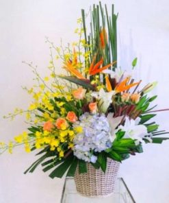giỏ hoa tươi 08