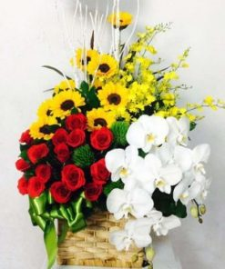 giỏ hoa tươi 09