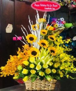 giỏ hoa tươi 14