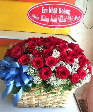 giỏ hoa tươi 15