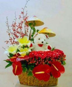 giỏ hoa tươi 17
