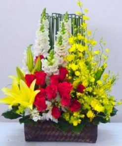 giỏ hoa tươi 19