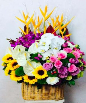 giỏ hoa tươi 21