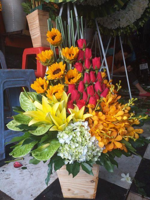 giỏ hoa tươi tại quận 2