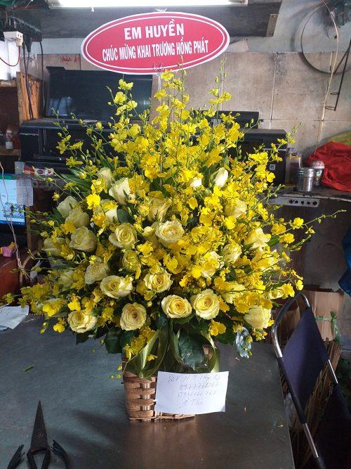 giỏ hoa tươi đẹp tại quận 4