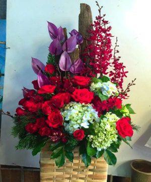 giỏ hoa tươi 27