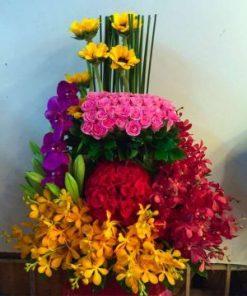 giỏ hoa tươi 32