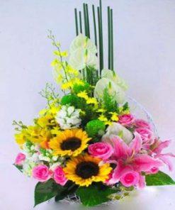giỏ hoa tươi 34